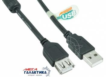 Удлинитель Megag USB AM (папа) - USB AF (мама) USB 2.0 T-T 1 Феррит 10m Black OEM