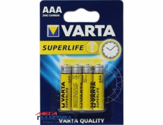 Батарейка Varta AAA SUPERLIFE 1.5V Carbon-Zinc (02003101414)