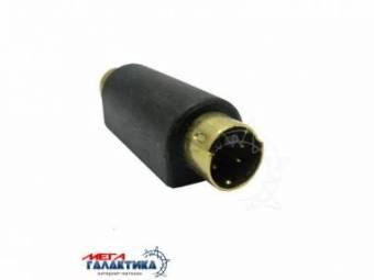Переходник Megag S-VHS M (папа) - RCA F (мама) (4 пин)  позолоченные коннекторы Black