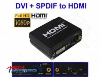 Конвертер Megag DVI+SPDIF - HDMI   Black 1080p / 720p / DTS-HD / Dolby-true HD / LPCM7.1 / DTS / Dolby-AC3 / DSD