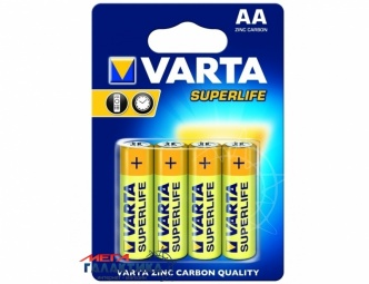 Батарейка Varta AA Superlife 1.5V Carbon-Zinc (02006101304)