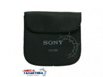 Чехол для портативных наушников Sony EX-088, кожа. Черный