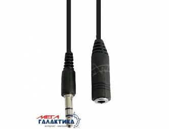 Удлинитель Megag Jack 3.5mm M (папа) - Jack 3.5mm F (мама) (3 пин) 5m позолоченные коннекторы (удлинитель наушников) Black