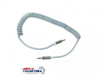 Кабель Megag Jack 3.5mm M (папа) - Jack 3.5mm M (папа) (3 пин) 2m Витой кабель Gray