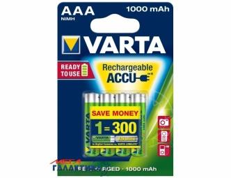 Аккумулятор Varta AAA Universal 1000 mAh 1.2V NiMh (4008496594375)