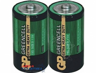 Батарейка GP D Greencell Extra Heavy Duty 1.5V Carbon-Zinc (Солевая) (13G-S2)