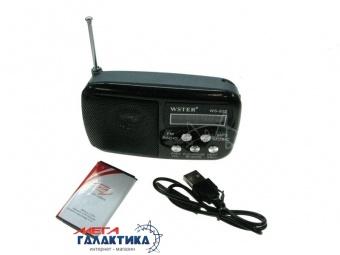 Радиоприемник 1.0 WSTER WS-822 FM-радио Black