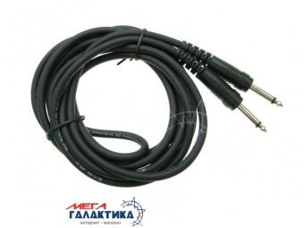 Кабель PVC Jack 6.3mm M (папа) - Jack 6.3mm M (папа) (2 пин) JSJ-411 (Моно) 3m  Black