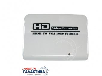 Конвертер Megag HDMI F (мама) - VGA F (мама) + Jack 3.5mm F (мама) Ultimate FJ-HV002 Full HD 1080P  White