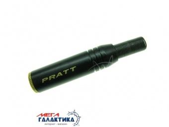 Коннектор PRATT Jack 3.5mm F (мама) (3 пин) Gold Plated Socket  Под пайку позолоченные коннекторы Black