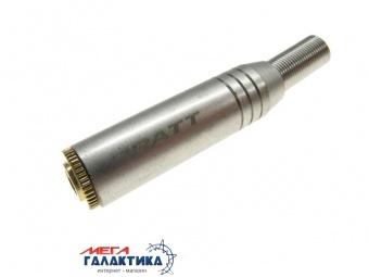 Коннектор PRATT Jack 3.5mm F (мама) (3 пин) Gold Plated Socket  Под пайку позолоченные коннекторы Silver