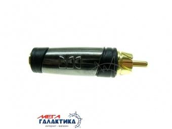 Переходник MONSTER RCA M (папа) - Jack 3.5mm F (мама) (2 пин)  позолоченные коннекторы Black