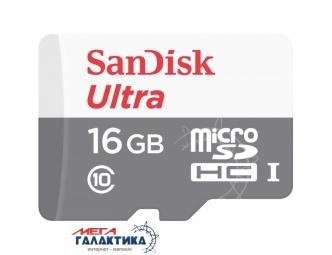 Карта памяти SanDisk micro SDHC 16GB UHS-1 (U1) (SDSQUNS-016G-GN3MA) +адаптер sd, Чтение 80 Мб/с