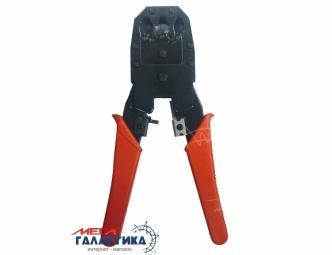 Инструмент обжимной Cablexpert  T-WC-04 для разъемов 8P8C/RJ-45, 6P6C/RJ-12, 6P4C/RJ-11, 4P4C, 4P2C Red Black Blister
