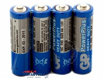 Батарейка GP AA GP15C-S4 PowerPlus 1.5V Carbon-Zinc (Солевая)