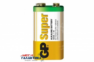 Батарейка GP Krona (6LF22) Super 9V Alkaline (Щелочная) (4891199006500)