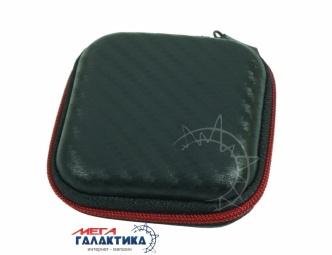 Чехол Megag для наушников , 7x7cm Carbon Black