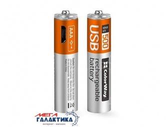 Аккумулятор ColorWay AAA 400 mAh 1.5V Li-polymer (CW-UBAAA-01)