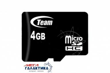 Карта памяти Team micro SDHC 4GB Class 10 (TUSDH4GCL1002), R20/W10MB/s