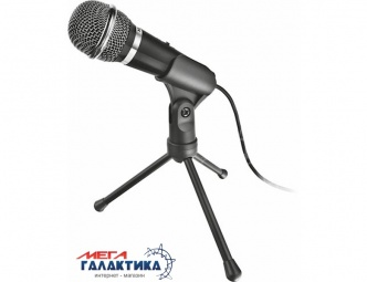 Микрофон для ПК Trust Starzz all-round Microphone + переходник Black (TR21671)