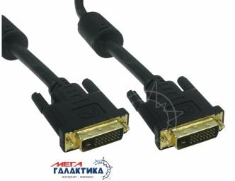 Кабель Megag DVI M (папа) - DVI M (папа) (24+1 пин) 2 Феррита позолоченные коннекторы 5m Black OEM