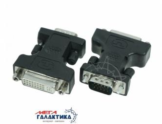 Переходник Megag DVI F (мама) - VGA M (папа) (24+5 пин)  Black OEM