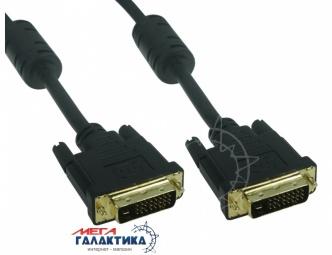 Кабель Megag DVI M (папа) - DVI M (папа) (24+1 пин) 2 Феррита 3m Black OEM