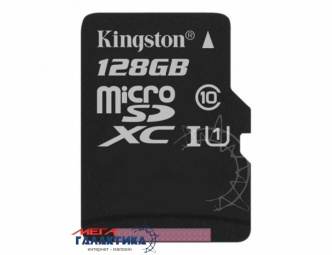Карта памяти Kingston micro SDXC 128GB Class 10 , Запись 80 Мб/с