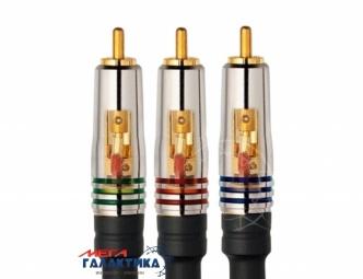 Кабель Profigold 3 x RCA M (папа) - 3 x RCA M (папа) (2 пин) PGV 3300 (Component Video) 1.5m 24K напыление Black