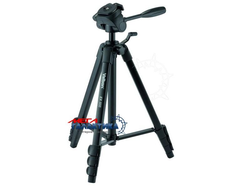 Штатив для фото-/видеокамер Velbon® EX-888 ,max 153cm min 48.5cm.съемн.площ.,до 1,5кг, чехол Фото товара №1
