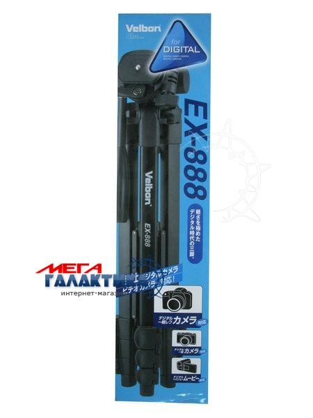 Штатив для фото-/видеокамер Velbon® EX-888 ,max 153cm min 48.5cm.съемн.площ.,до 1,5кг, чехол Фото товара №2