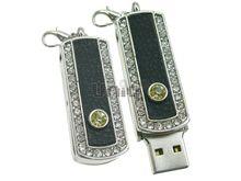 Флешка Uniq USB 2.0 ФАВОРИТ СЕРЕБРО+КОЖА черный инкруст 86+2 желт.кам 4GB (04C14014U2)