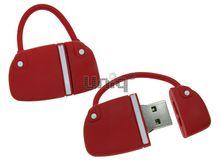 Флешка Uniq USB 2.0 СУМОЧКА дамская красная Резина 4GB (04C14017U2)