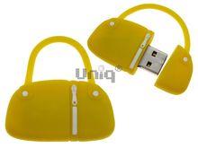 Флешка Uniq USB 2.0 СУМОЧКА дамская желтая Flash USB водонепрониц. Резина 4GB (04C14020U2)
