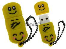Флешка Uniq USB 2.0 СМАЙЛИК желтый Flash USB водонепрониц. Резина 4GB (04C14022U2)