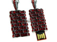 Флешка Uniq USB 2.0 ПОДВЕСКА КОРОЛЕВЫ серебро / красный 4GB (04C14027U2)