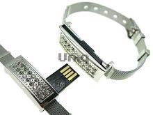 Флешка Uniq USB 2.0 БРАСЛЕТ Часовой Серебро / Серебро 4GB (04C14034U2)