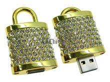 Флешка Uniq USB 2.0 ЗАМОК Золотой 4GB (04C14056U2)
