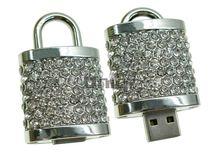 Флешка Uniq USB 2.0 ЗАМОК Серебряный 4GB (04C14057U2)