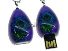Флешка Uniq USB 2.0 ПЕСЧАНАЯ КАПЛЯ Астра Фиолетовый 4GB (04C14088U2)