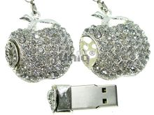 Флешка Uniq USB 2.0 Apple Jewel Silver 4GB (04C14103U2)