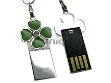 Флешка Uniq USB 2.0 SLIM КЛЕВЕР Зеленый 4GB (04C14153U2)