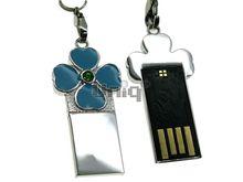 Флешка Uniq USB 2.0 SLIM КЛЕВЕР Голубой 4GB (04C14154U2)
