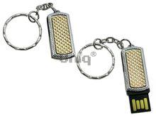 Флешка Uniq USB 2.0 MINI Золотые Грани золото / серебро [металл] 4GB (04C14176U2)
