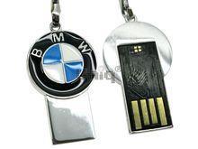 Флешка Uniq USB 2.0 SLIM Автобрелок BMW черный 4GB (04C14229U2)