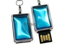 Флешка Uniq USB 2.0 СТИЛЬ 3D голубая, пластик Водонепрониц. 4GB (04C14278U2)