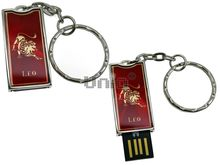 Флешка Uniq USB 2.0 ZODIAK STARLIGHT Лев красный (Leo) 4GB (04C14280U2)
