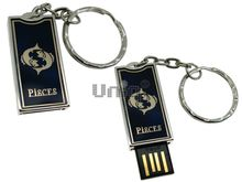 Флешка Uniq USB 2.0 ZODIAK STARLIGHT Рыбы синий (Pisces) 4GB (04C14287U2)