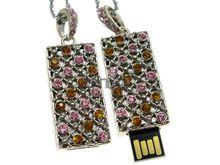 Флешка Uniq USB 2.0 ХАНСКИЙ ДВОРЕЦ серебро розовый /желтый 4GB (04C14326U2)