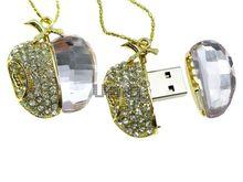 Флешка Uniq USB 2.0 Apple Cristal Золото / Сиреневый 4GB (04C14340U2)